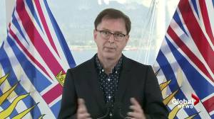 Health Minister Adrian Dix holds impromptu news conference (06:41)