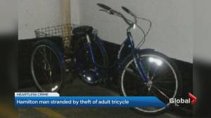 Adult trike stolen from Hamilton man with 'limited mobility'
