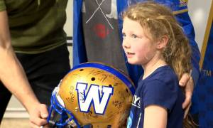 Winnipeg Blue Bombers fans celebrate Grey Cup win with family fun day
