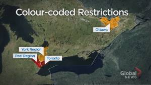 Breaking down 4 colour-coded COVID-19 regions in Ontario (02:54)