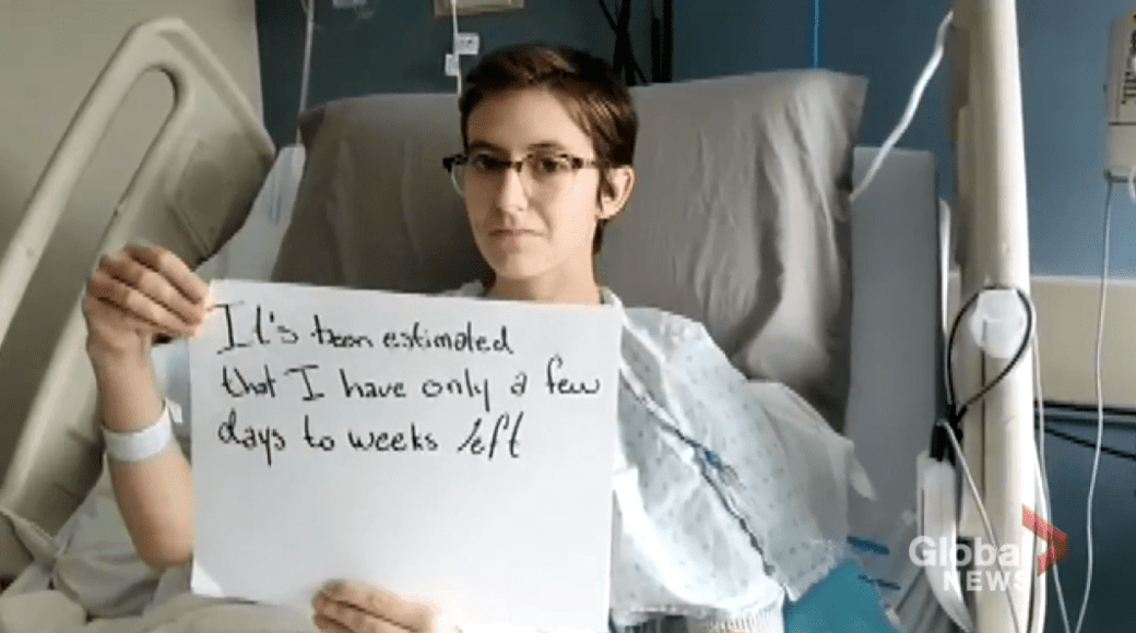 Young Winnipeg woman with days to live urges Canadians to vote