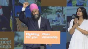 Canada election: NDP leader Jagmeet Singh's promises to 'continue to fight' for Canadians in post-election speech (05:55)