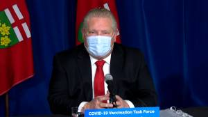 Coronavirus: Ontario officials discuss COVID-19 outbreak at Barrie nursing home (01:05)