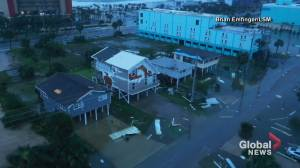 Hurricane Sally: Drone footage shows storm's devastation in Alabama (01:20)
