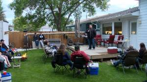 Backyard comedy show provides entertainment for all involved