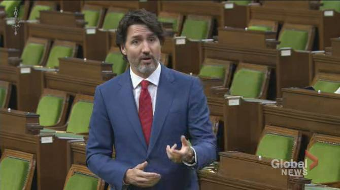 Click to play video: Trudeau accuses NDP of being 'befuddled about division of powers' over paid sick leave