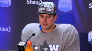 RAW: Blue Bombers Zach Collaros Interview – Nov. 24