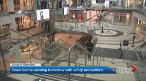 CF Toronto Eaton Centre reopening Wednesday
