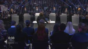 Federal party leaders in first English-language debate