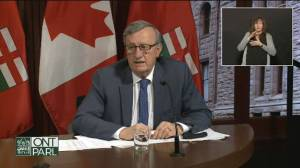 Ontario's COVID-19 cases moving in right direction, top doctor says (02:00)