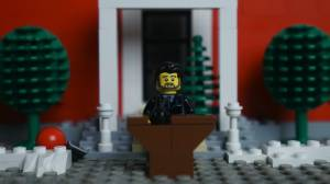 Winnipeg man makes Lego version of PM Justin Trudeau's message to kids about COVID-19