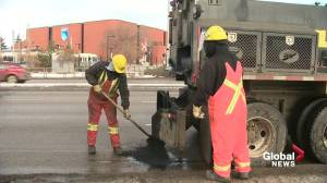 Edmonton road crews 'very proactive with potholes' so far this year (01:51)