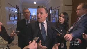 Quebec Premier Francois Legault says railway blockades need to end