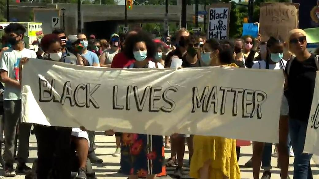 Click to play video 'Protesters in Ottawa march against anti-Black racism and police brutality'