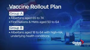 Alberta premier announces priority list for Phase 2 of COVID 19 vaccinations (02:04)