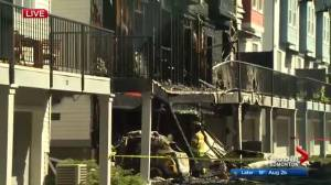 Fire at north Edmonton townhouse complex