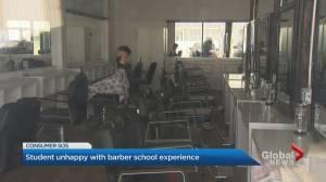 Student says $7,000 barber program didn't cut it (01:59)