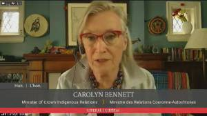 Bennett says Pope's statement over residential schools 'doesn't go far enough' (01:26)