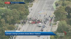 Climate change protest shuts down Bloor viaduct