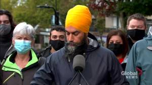Canada election: Singh says he's confident in his party's ability to win seats (00:53)