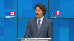 Trudeau announces EU-Canada health dialogue (00:56)