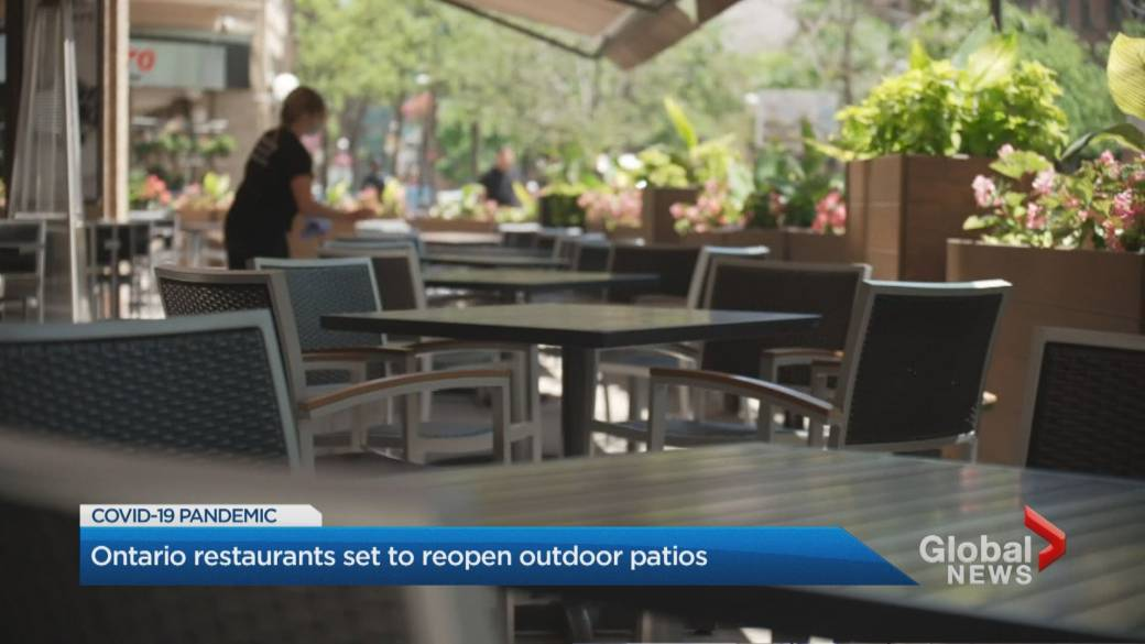 Click to play video: 'Ontario restaurants get ready to reopen patios'