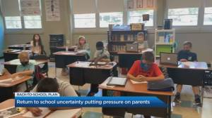 Parents are feeling uncertainty and pressure sending kids back to school (05:50)