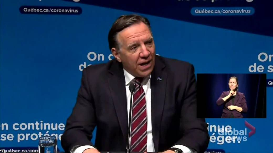 Click to play video 'Coronavirus: Quebec's average number of COVID-19 cases dropping, says premier'