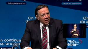 Coronavirus: Quebec's average number of COVID-19 cases dropping, says premier (00:45)
