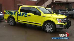 City of Edmonton unveils new neon photo radar vehicles