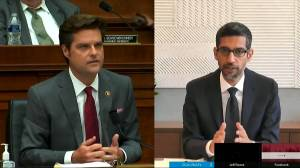 Republican congressman asks Google to commit to not adopting 'anti-police policies' (02:51)