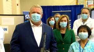 Coronavirus: Ford thanks health care workers across Ontario as 2nd COVID-19 vaccine dose administered (02:51)
