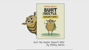 Children's book author launches 'Burt the Beetle Doesn't Bite!' (03:16)