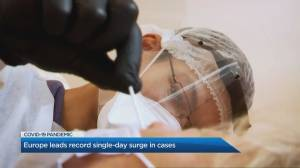 Europe has record single-day surge in COVID-19 cases (06:49)