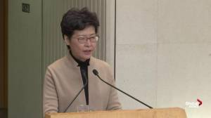 Carrie Lam calls on protesters inside Polytechnic University to come out peacefully