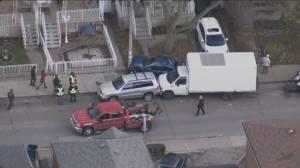 Man arrested after 15 vehicles hit in Toronto's Junction neighbourhood