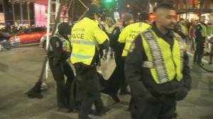 Metro Vancouver Black Friday includes protestors and arrests (02:42)