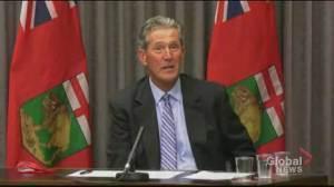 Pallister says he 'stands by' comments following Eileen Clarke resignation (01:14)