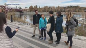Climate activist Greta Thunberg arrives in Alberta