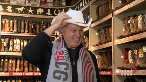 CFL commissioner Randy Ambrosie white-hatted in Calgary