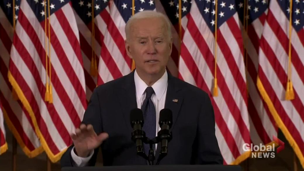 Click to play video: 'Biden wants to raise corporate tax to 28%, calls out Amazon for not paying federal income tax in U.S.'