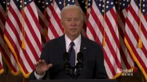 Biden wants to raise corporate tax to 28%, calls out Amazon for not paying federal income tax in U.S. (01:17)