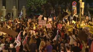 Thousands protest against Israel's Netanyahu over economy, corruption allegations (01:59)