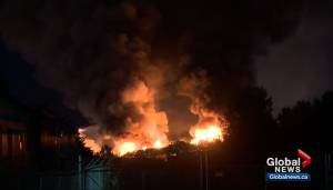 Fire burns overnight at recycling facility in east Edmonton