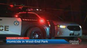 Woman who called 911 for help found dead in Toronto west end park (02:25)
