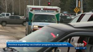 Paramedics, EMS added to the Alberta's COVID-19 vaccine prioritization list (03:01)