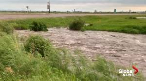 Record rain floods southern Manitoba