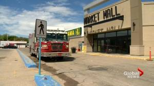 Partial closure at Market Mall after fire in Dollarama store causes $100K damage (01:24)