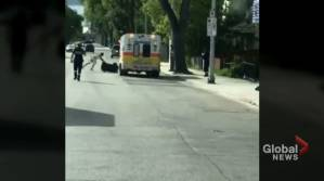 Naked man steals ambulance in Winnipeg