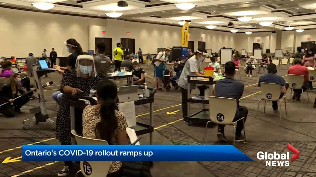 Click to play video: 'Ramped up vaccine roll out in Ontario prompts questions about what is needed to start reopening the economy'